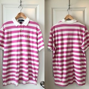 Ralph Lauren Striped Polo in Pink